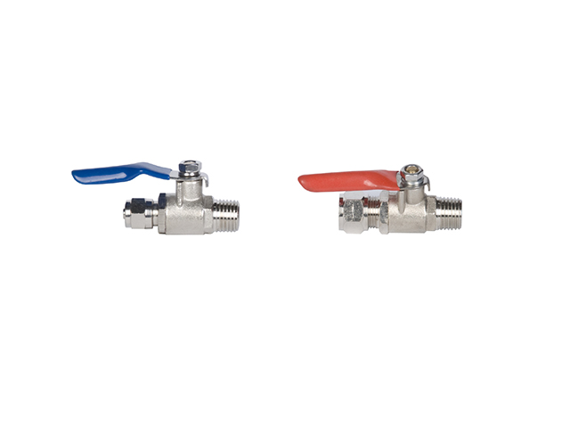Two points water inlet ball valve ball, three points