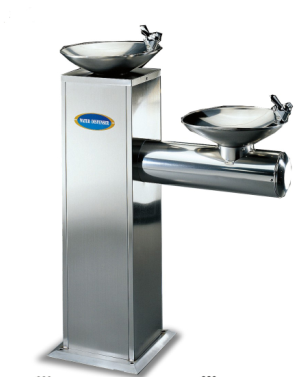 Double basin drinking water fountain cooler